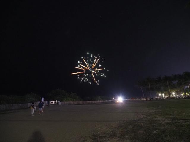 マイアミ年越し前の花火
