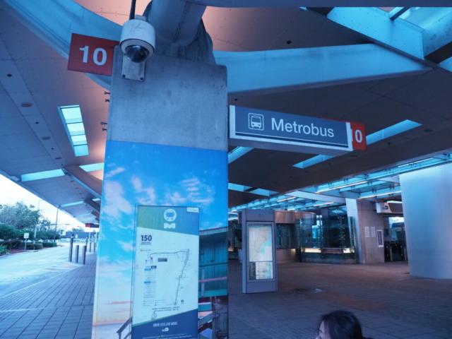 マイアミ空港バス停