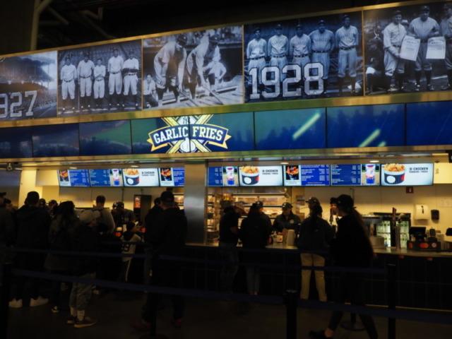 ヤンキースタジアムの売店