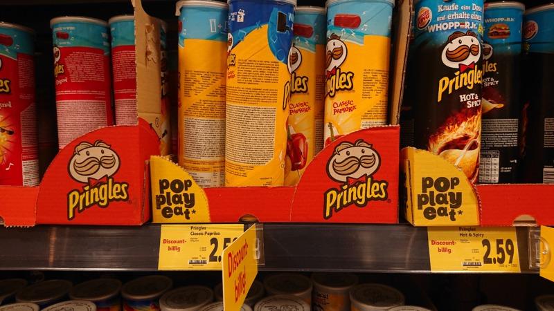 ドイツのスーパーマーケットで見つけたプリングルズ