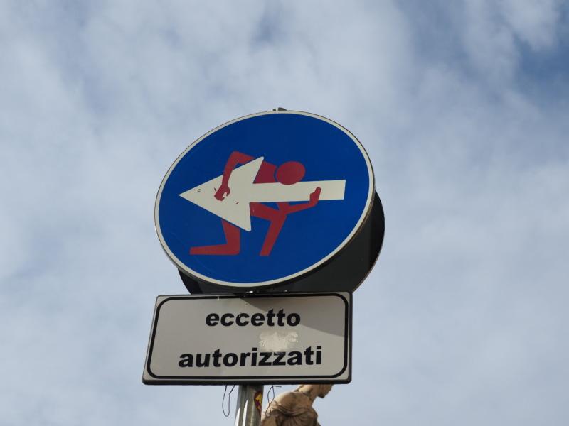 フィレンツェの交通マーク