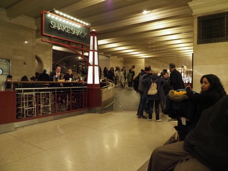 グランドセントラル駅内のシェイクシャック