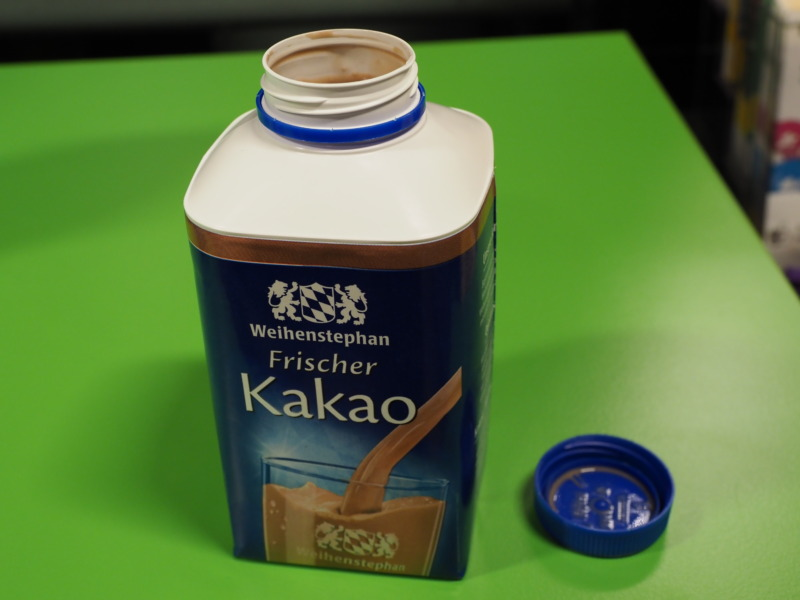 ドイツのミルクには中のフタがない